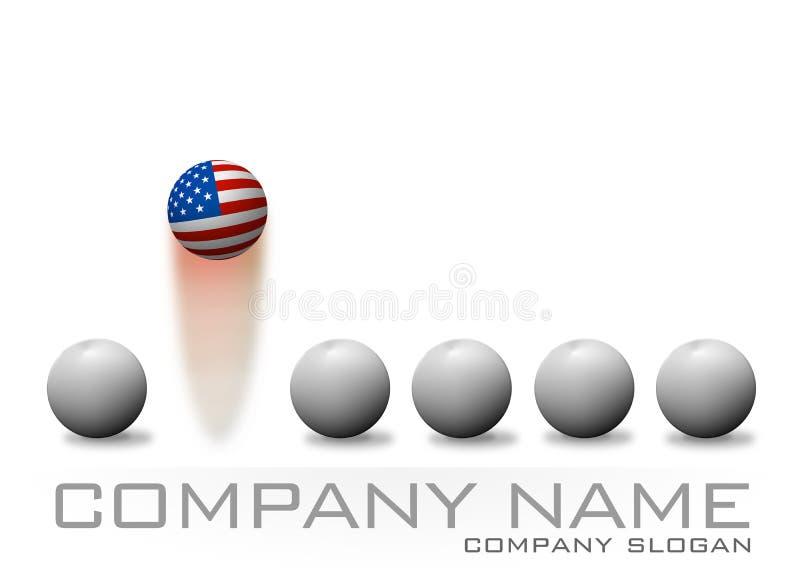 Logo d'American Bouncing Ball Company illustration de vecteur