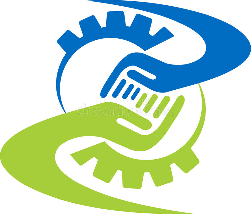 Logo d'ami d'usine illustration libre de droits