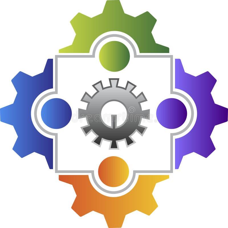Logo d'ami d'usine illustration de vecteur