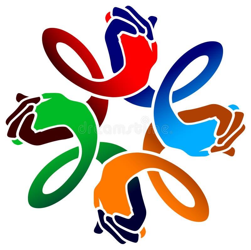 Logo d'amis illustration stock