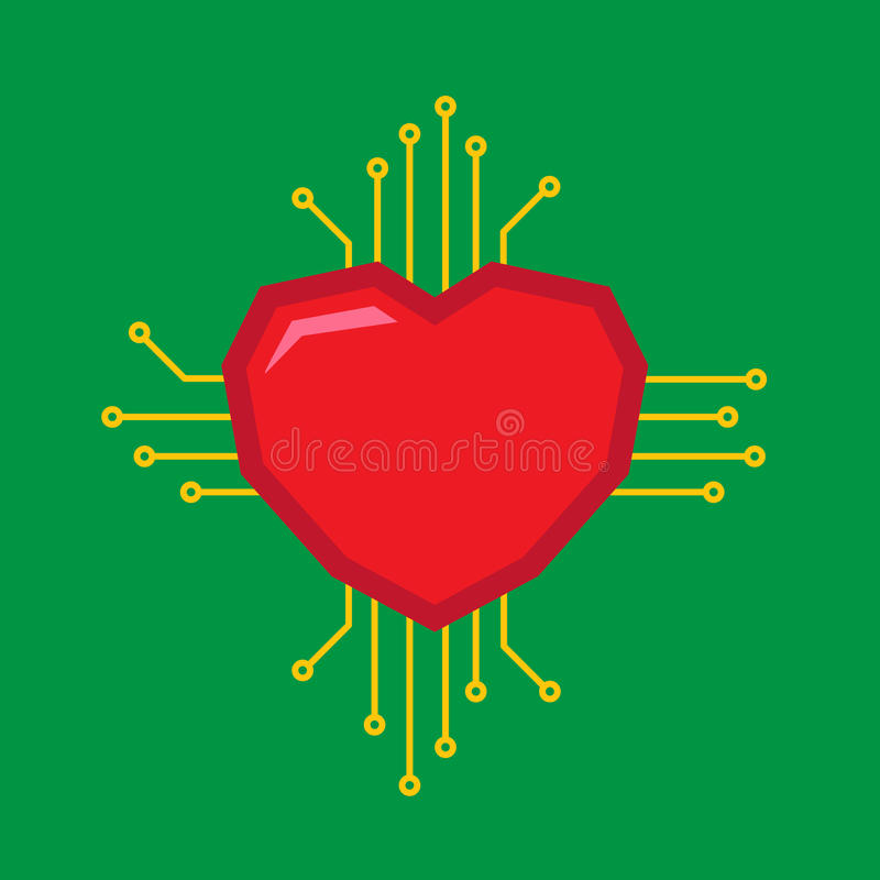 Logo d'amour de Digital illustration libre de droits