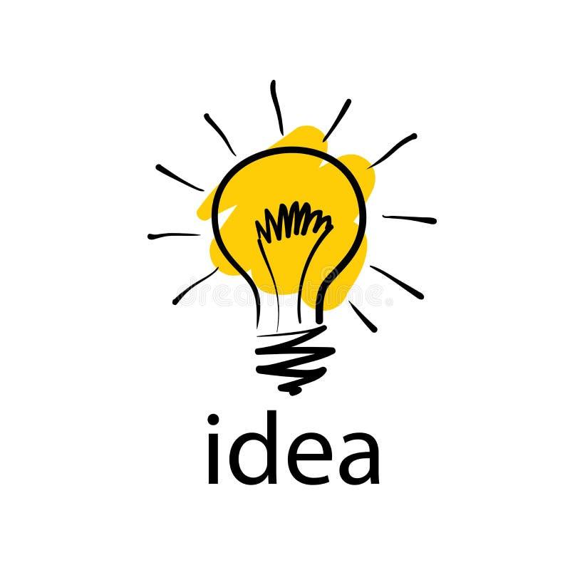 Logo d'ampoule avec des idées de concept Illustration de vecteur illustration de vecteur