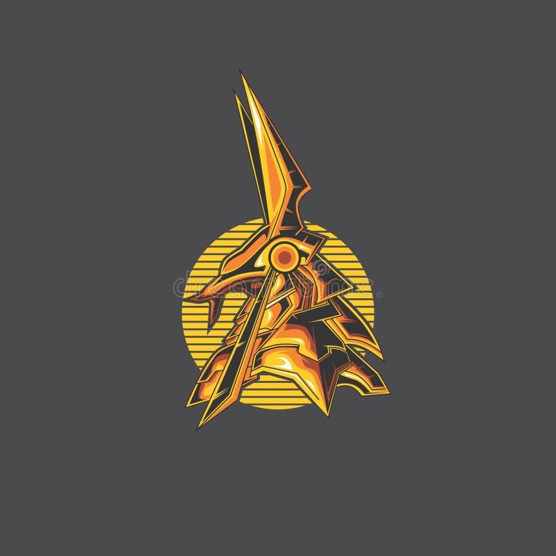 Logo d'Anubis illustration stock
