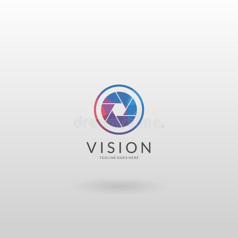 Logo d'appareil-photo Calibre multicolore de logo d'appareil-photo illustration de vecteur