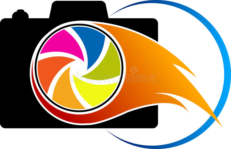 Logo d'appareil-photo d'homme réussi illustration libre de droits