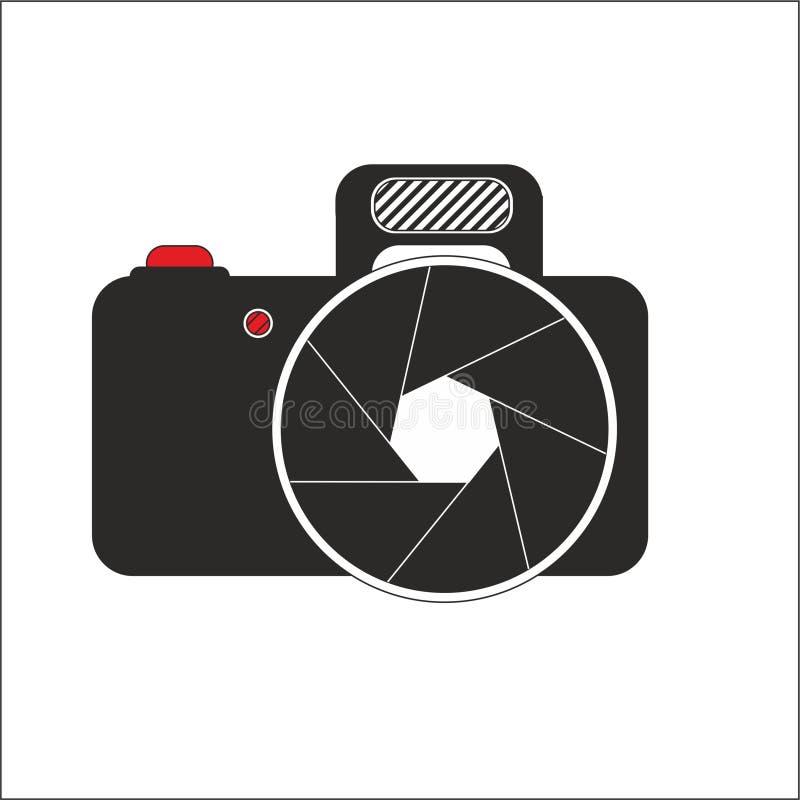 Logo d'appareil-photo Le graphique de vecteur d'aspiration de Corel a attaché illustration de vecteur