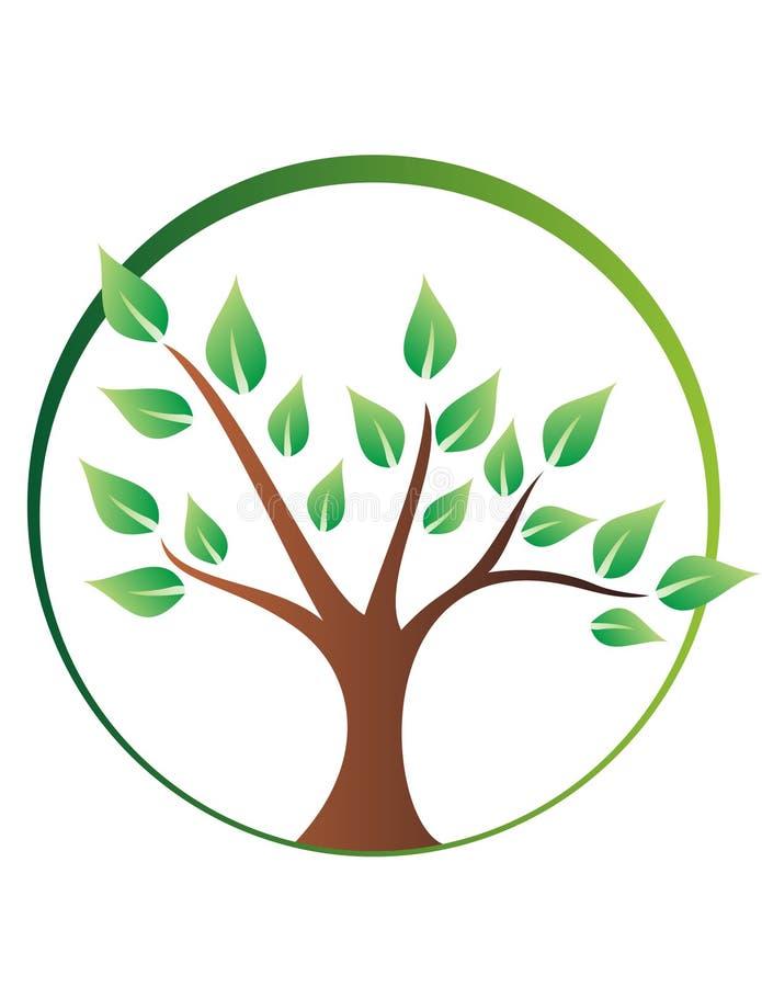 Logo d'arbre images stock