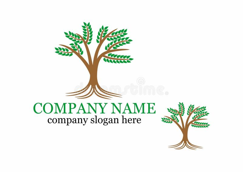 Logo d'arbre image stock