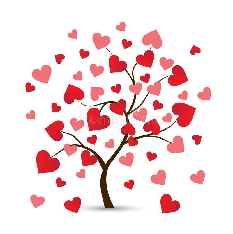 Logo d'arbre de coeur illustration de vecteur