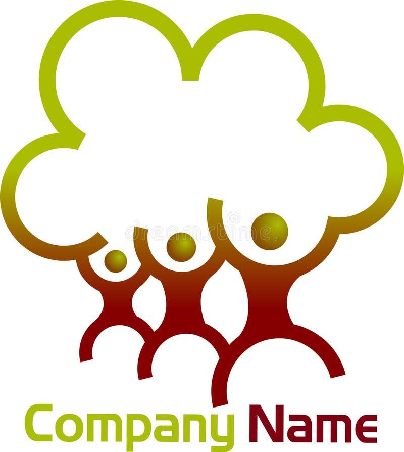 Logo d'arbre généalogique illustration stock