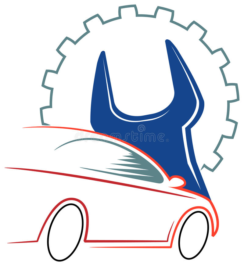 Logo d'atelier d'automobile illustration stock
