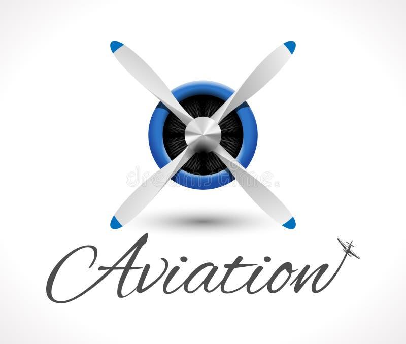 Logo d'aviation illustration de vecteur