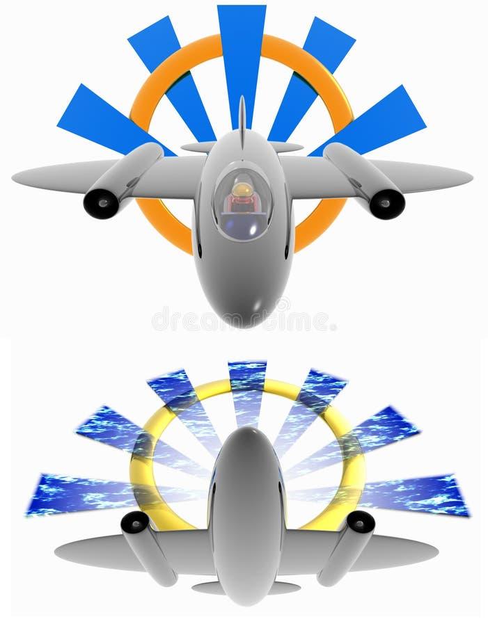 Logo D Avion à Réaction Image stock