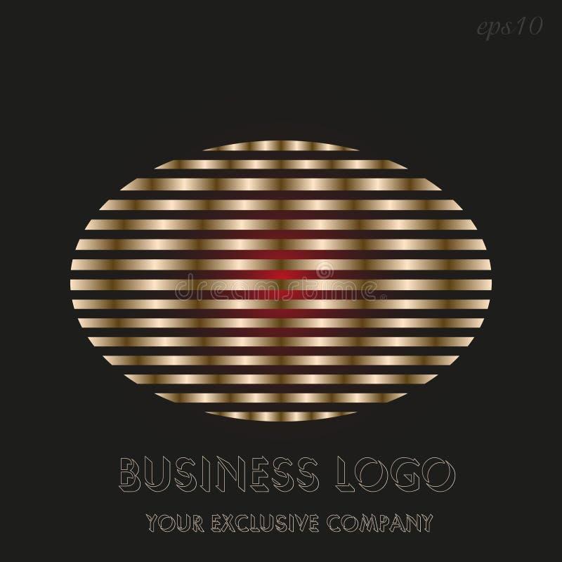 Logo d'or d'ellipse illustration stock