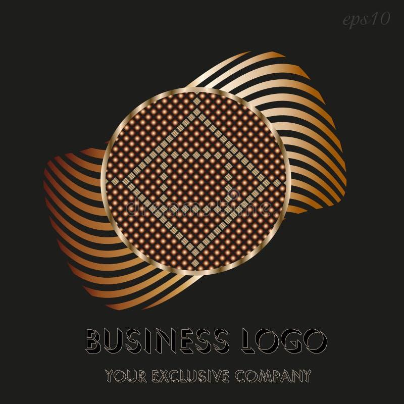 Logo d'or de cercle illustration de vecteur