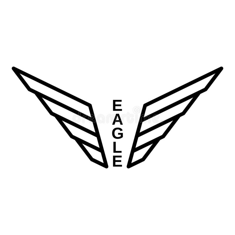Logo d'Eagle, style d'ensemble illustration de vecteur