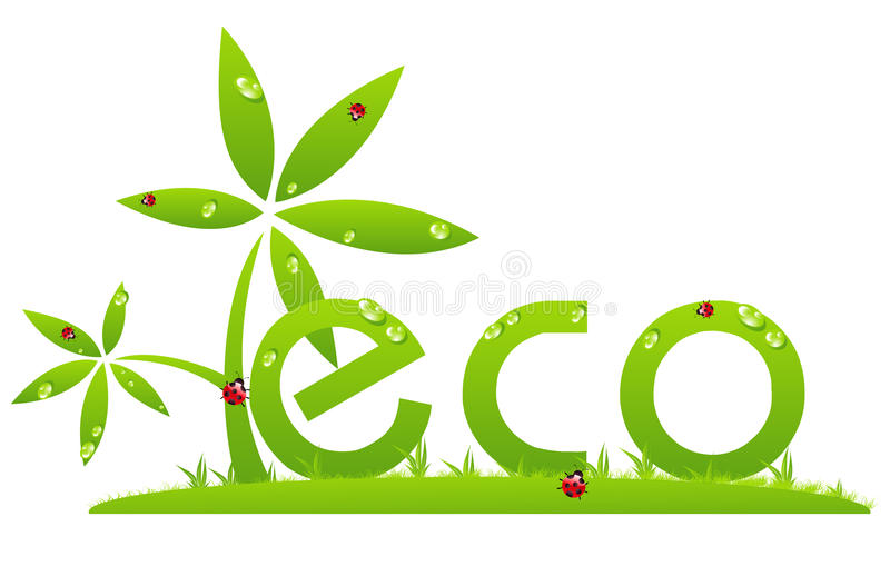 Logo d'Eco illustration libre de droits