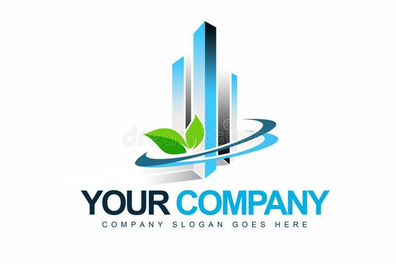 Logo d'Eco d'affaires illustration de vecteur