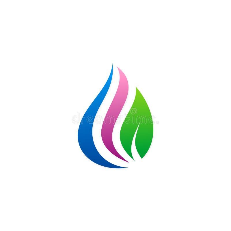 Logo d'eco de gouttelette de beauté illustration de vecteur