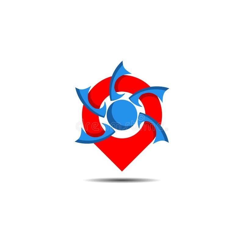 Logo d'emplacement de Pin illustration libre de droits