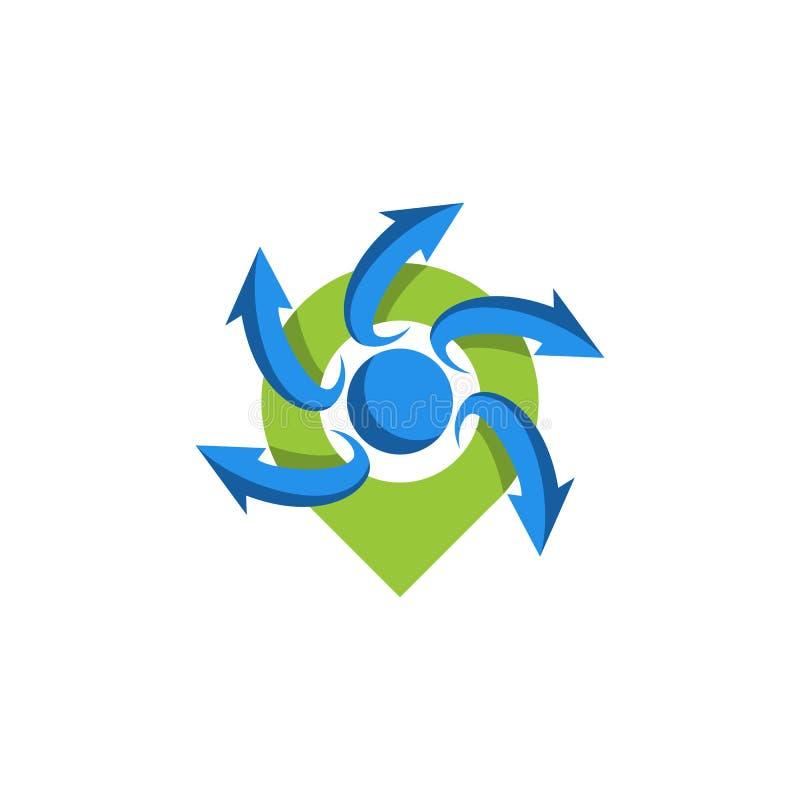 Logo d'emplacement de Pin illustration de vecteur