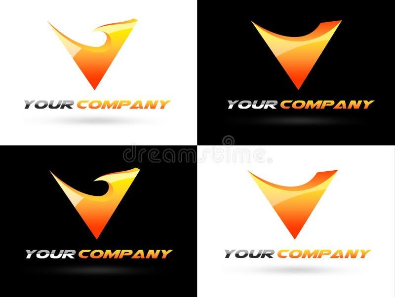Logo d'entreprise de V illustration stock