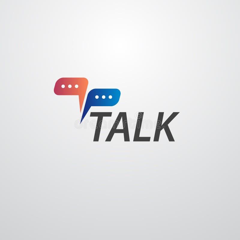 Logo d'entretien avec la bulle de la parole illustration de vecteur