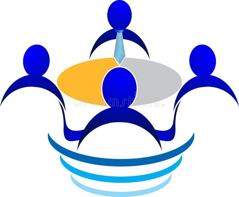 Logo d'entrevue illustration de vecteur