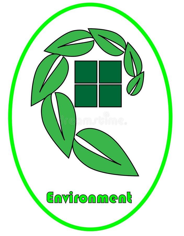 Logo d'environnement photographie stock