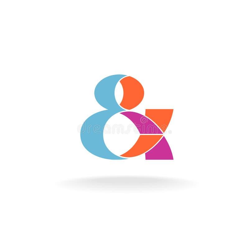 Logo d'esperluète illustration de vecteur