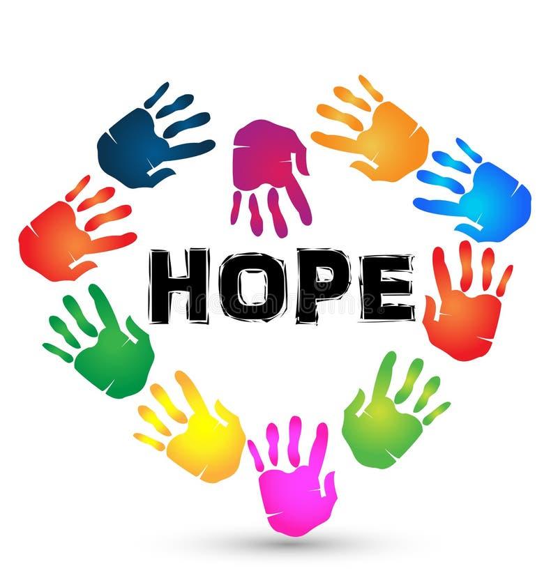 Logo d'espoir de mains illustration libre de droits