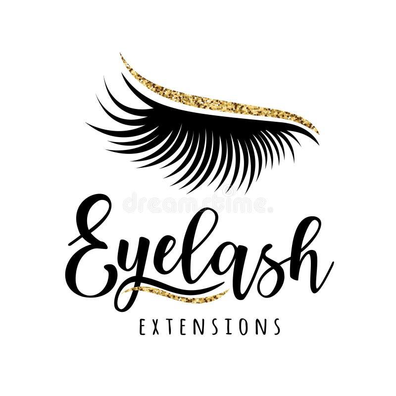 Logo d'extension de cil illustration stock
