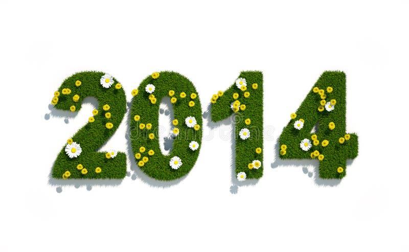 Logo 3d för nytt år 2014 royaltyfri illustrationer