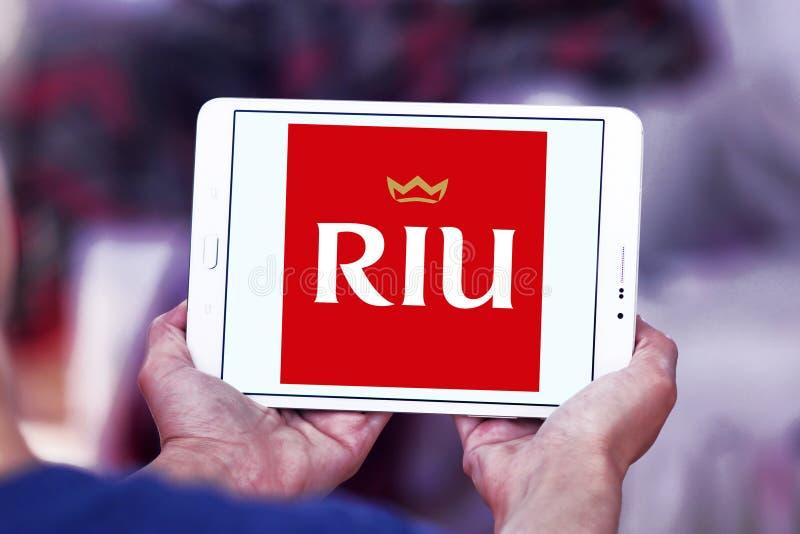 Logo d'hôtels et de stations de vacances de RIU photos stock