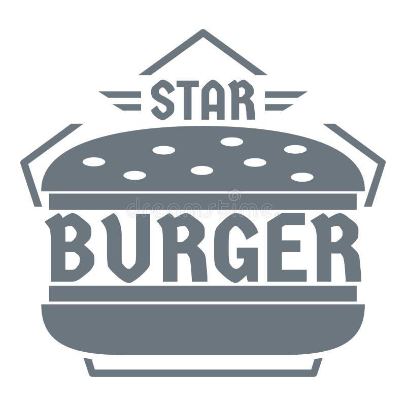 Logo d'hamburger d'étoile, style gris simple illustration libre de droits