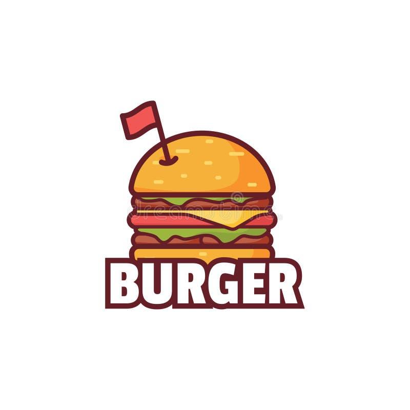 Logo d'hamburger, logo d'aliments de préparation rapide illustration libre de droits