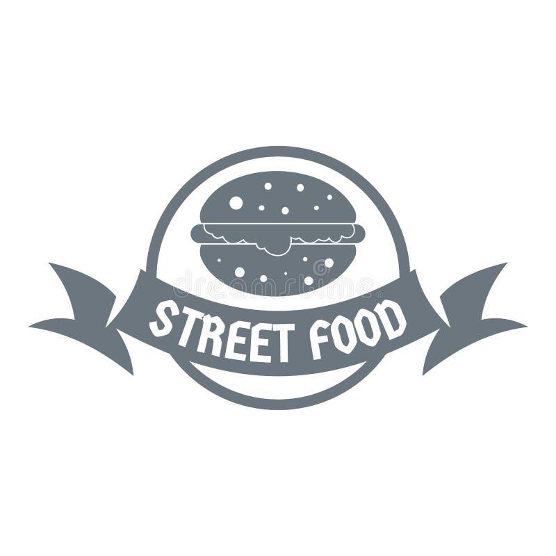Logo d'hamburger de rue, style gris simple illustration stock