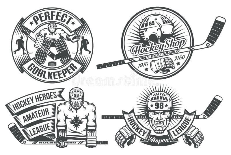Logo d'hockey illustration libre de droits