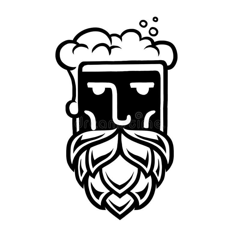 Logo d'homme de bière photos stock