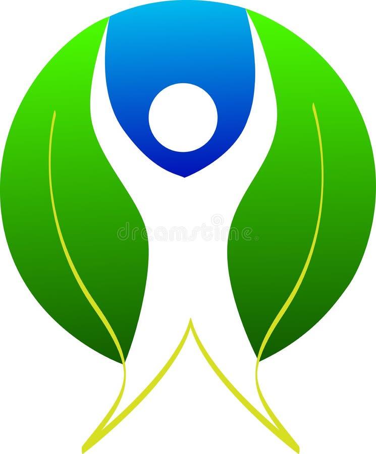 Logo d'homme de lame illustration de vecteur