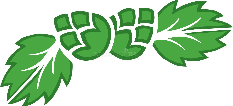 Logo d'houblon illustration de vecteur