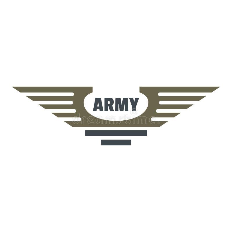 Logo d'icône d'armée, style plat illustration de vecteur