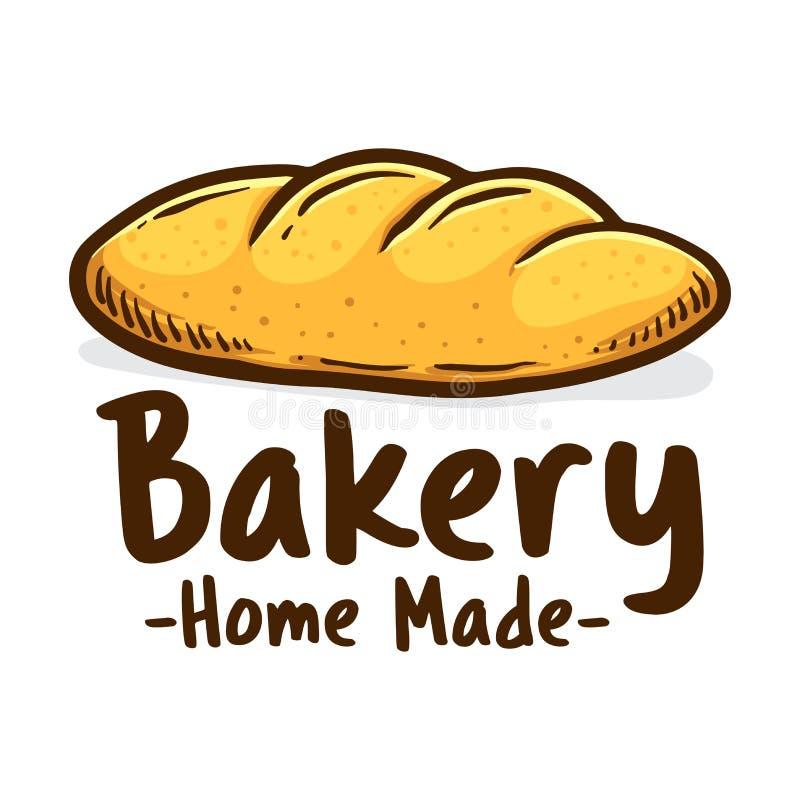 Logo d'icône de boutique de boulangerie fait par maison illustration stock