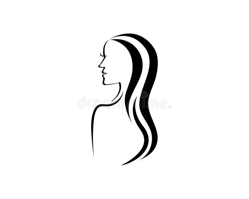 Logo d'icône de femmes de beauté illustration stock
