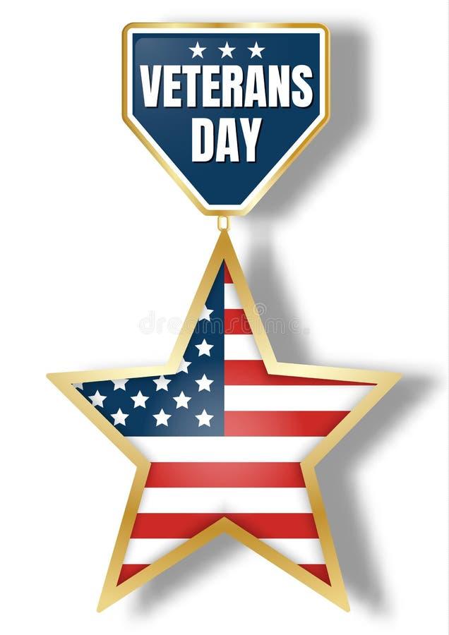 Logo d'icône de jour de vétérans, style réaliste illustration de vecteur