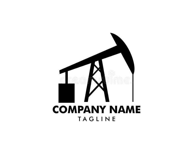 Logo d'icône de pompe de tige de surgeon pour l'huile et l'industrie du gaz illustration de vecteur