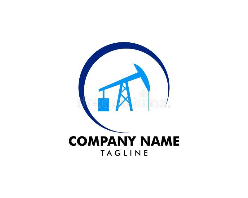 Logo d'icône de pompe de tige de surgeon pour l'huile et l'industrie du gaz illustration stock