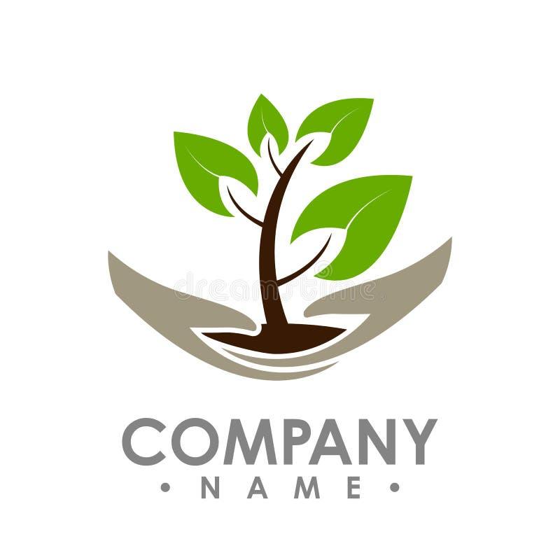 Logo d'icône verte de vecteur d'élément de nature d'écologie de feuille Conception SH illustration stock