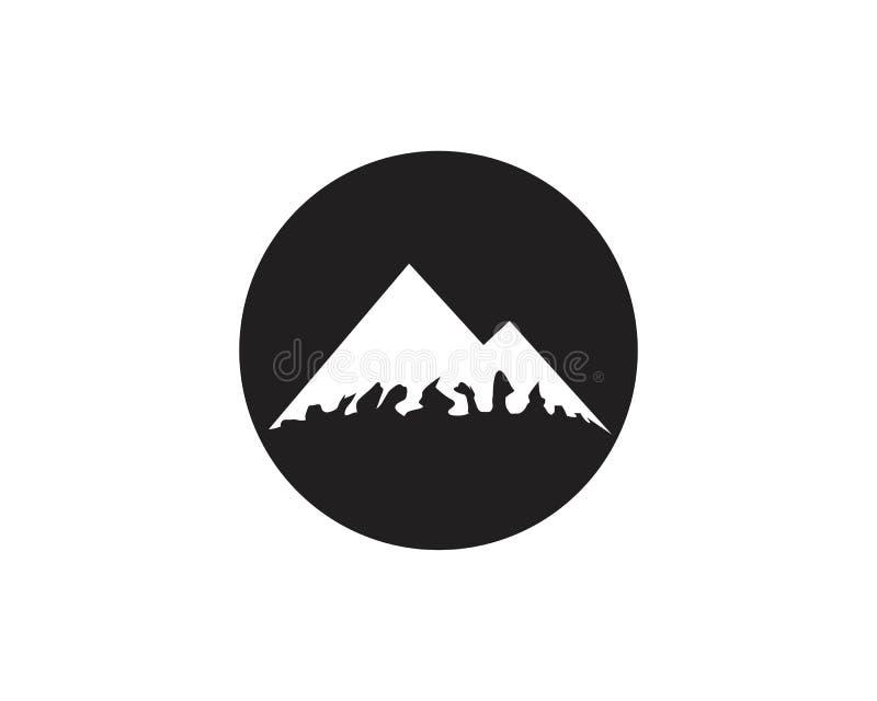 Logo d'ic?ne de montagne illustration de vecteur