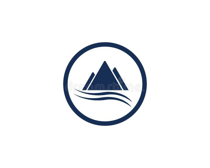 Logo d'ic?ne de montagne illustration stock